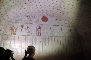 Gravkammer under kong Tanutamons pyramide i el-Kurru. Foto (c) Pia Adamsen.