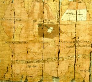 Papyrus Turin 1879 med kort fra Wadi Hammamat