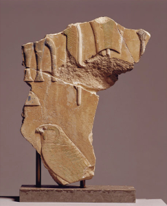 Bemalet relief fra Apries' Palads i Memphis, ÆIN 1048. (Foto:Ole Haupt)